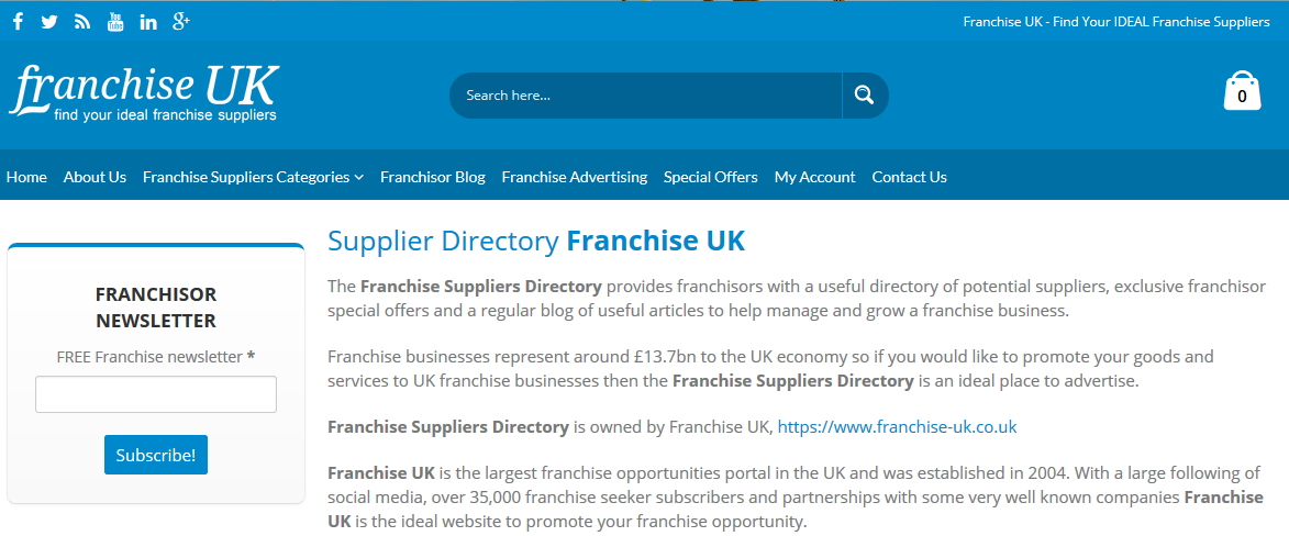 Franchise Suppliers Directory