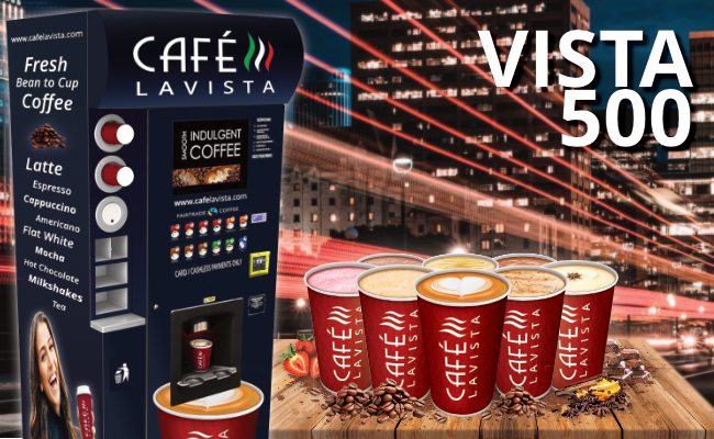 Cafe Lavista coffee vending machine