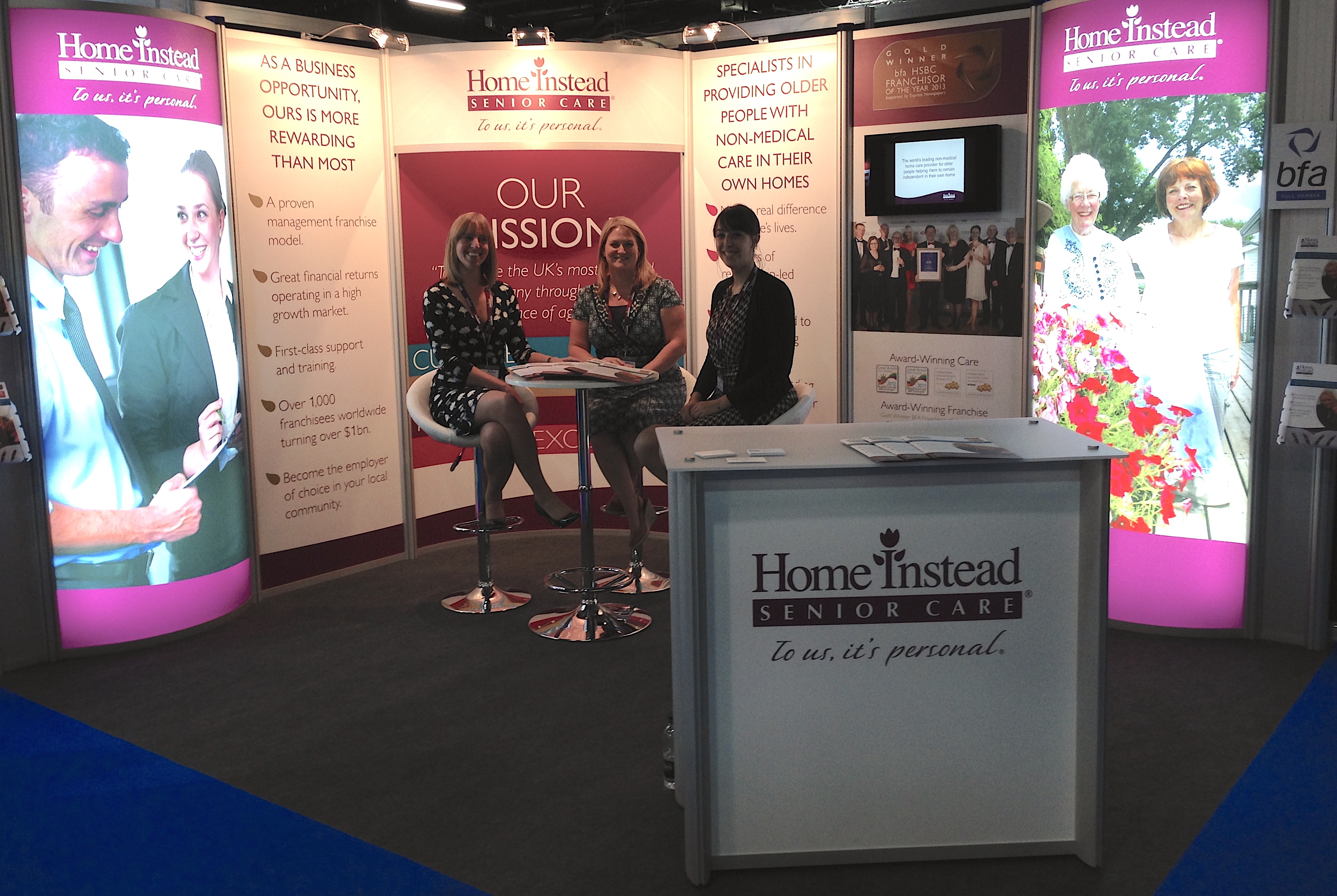 Home Instead Senior Care show stand