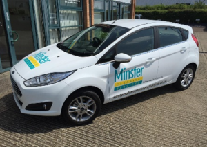 Minster Cleaning Services branded car