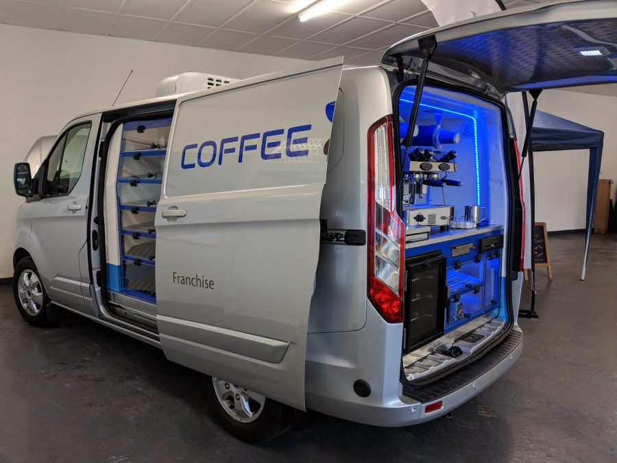 Close up of coffee van back