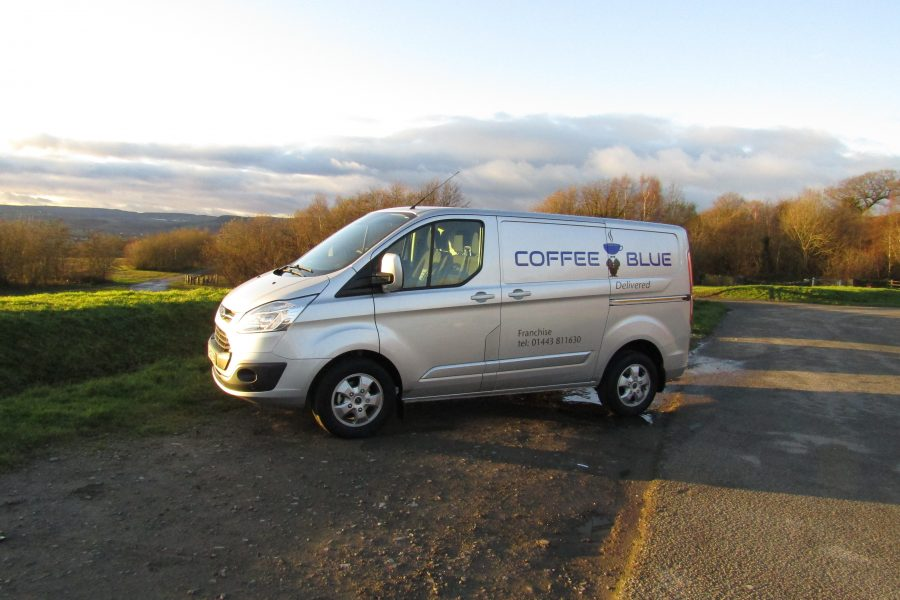 Coffee Blue Van Scenic Photo