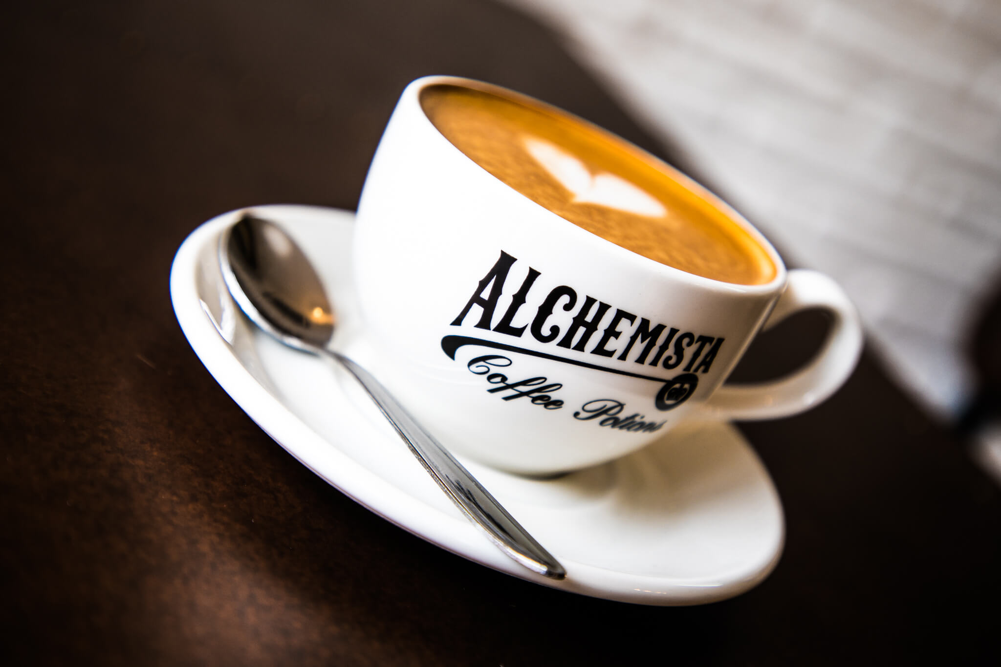 Alchemista Coffee Cup and Spoon