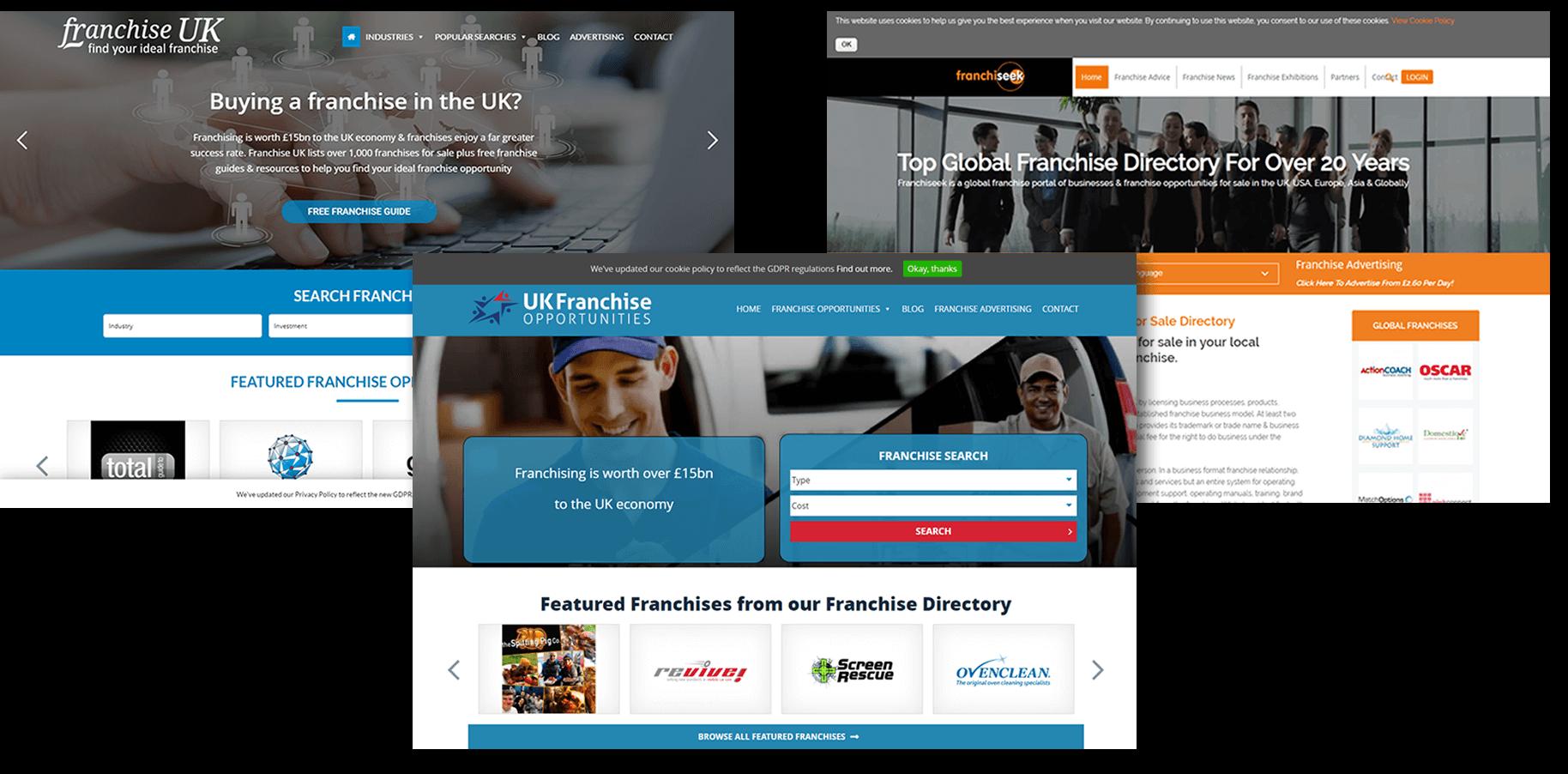 IBGN Websites Franchise UK Franchiseek UK Franchise Opportunities