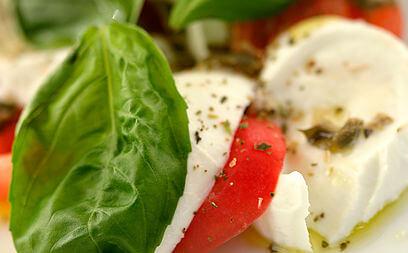 Leaf, Mozarella and Tomato