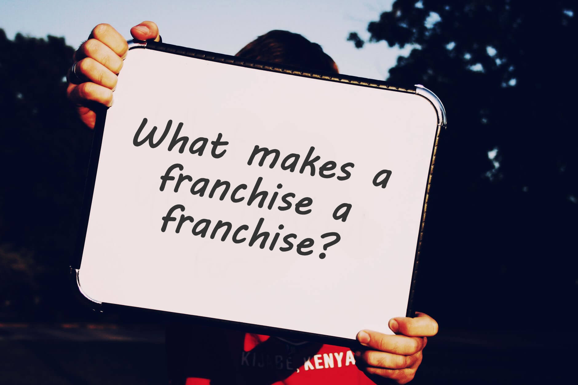 What makes a franchise, a franchise?