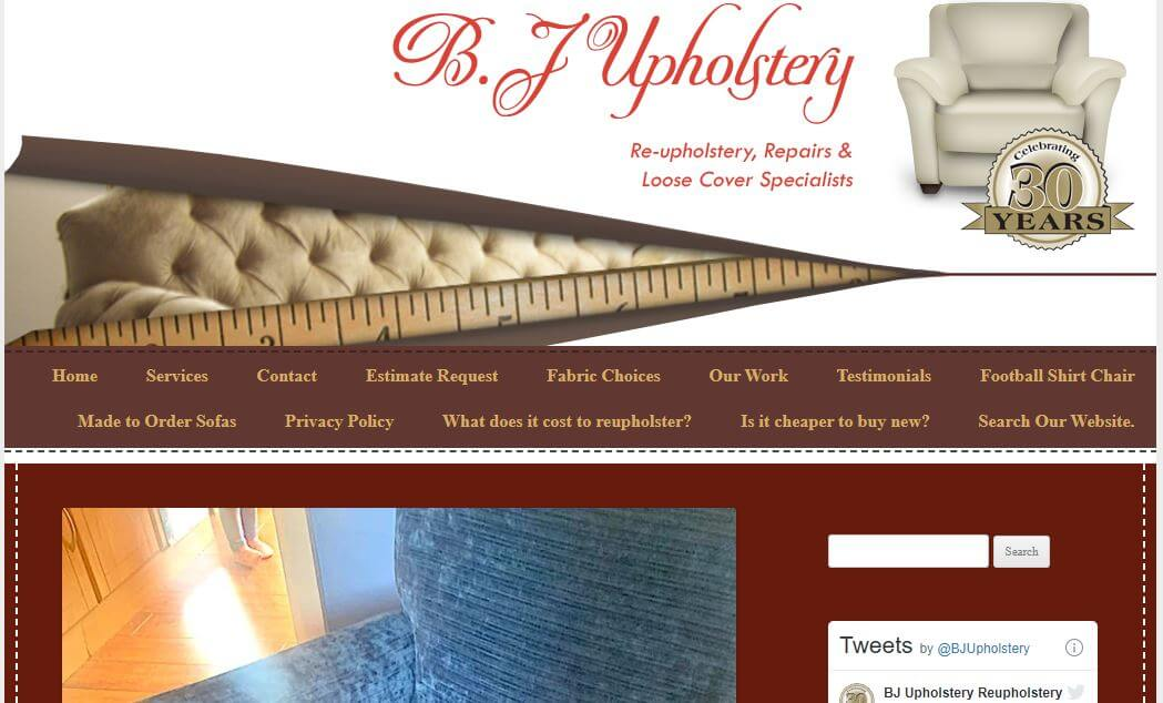 B J Upholstery Website