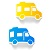Blue Bullet Point Van
